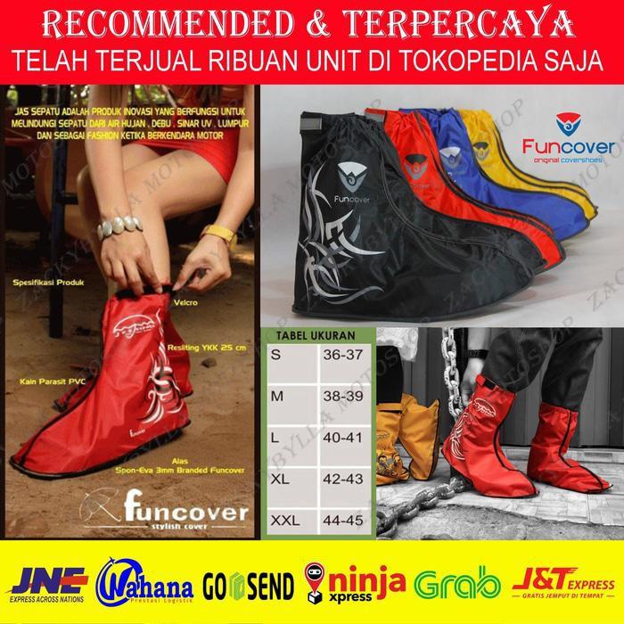 cov 054 New FUNCOVER 2016 MERAH- Cover Shoes / Jas Hujan Sepatu | Shopee Indonesia