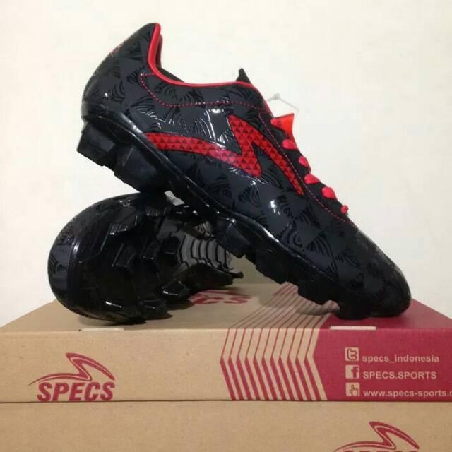 Sepatu Bola Specs Quark FG Black Emperor Red 100756 ORIGINAL a68605a6a2