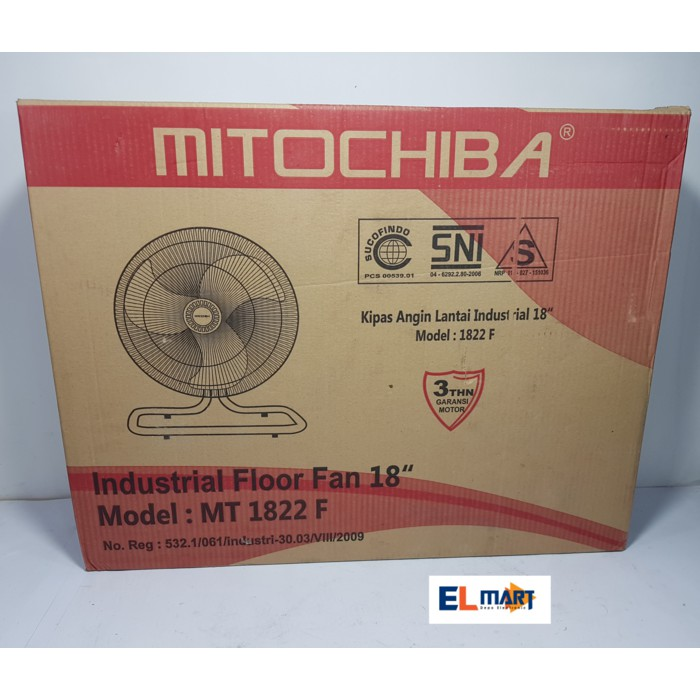 Mitochiba kipas angin besi lantai meja MT1822F/industrial floor fan | Shopee Indonesia