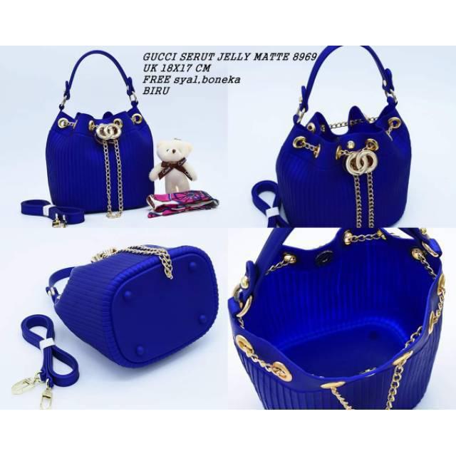 Gucci serut jelly matte free boneka+syal impor 2992  2d92eb9a96