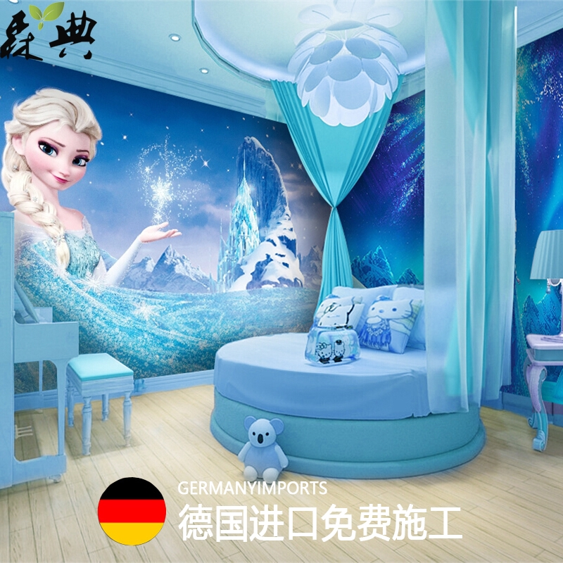 3d Frozen Aisha Kamar Tidur Tema Mural Kartun Anak Laki-laki Ruangan Kamar  Wallpaper Kustom Dekorati | Shopee Indonesia