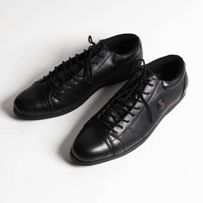 069aa3d0ef084 MIAMI Black By BARRACK FW / Haido Pendek / Sepatu Kulit Kambing Asli