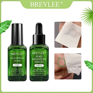 BREYLEE Varian STEP 1 - Blackhead Remover Mask (Termasuk Kertas 100pcs) & STEP 2 - Pore Serum