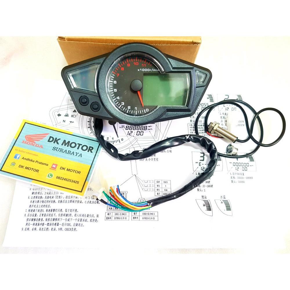 Speedometer Spidometer Replika Koso Rx1n Rx1 N Universal Set Soket Sen Shopee Indonesia
