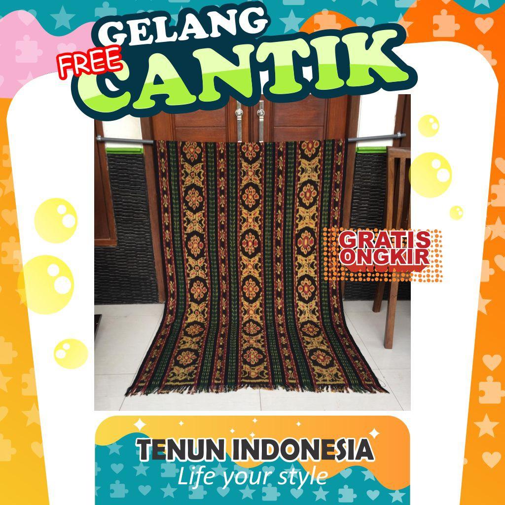 Tenun Ikat Blanket Etnik Kain Selimut Handmade Asli Tradisional Nusantara Bahan Baju Motif Spesial 1