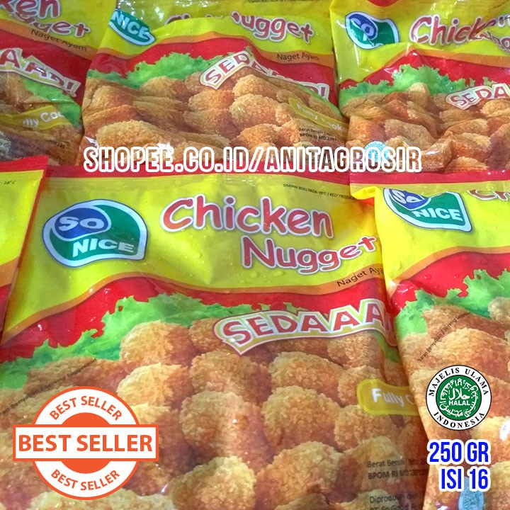 GROSIR SO NICE Nugget 250gr Isi 16 Chicken Nuget Halal SO