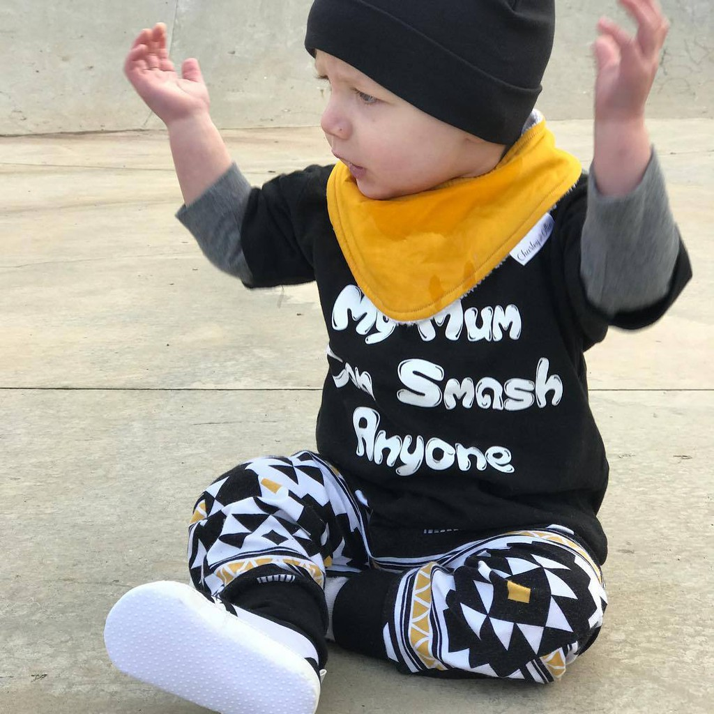 2pcs Newborn Toddler Infant Baby Boy Girl Clothes T-shirt Tops+Pants Outfits | Shopee Indonesia
