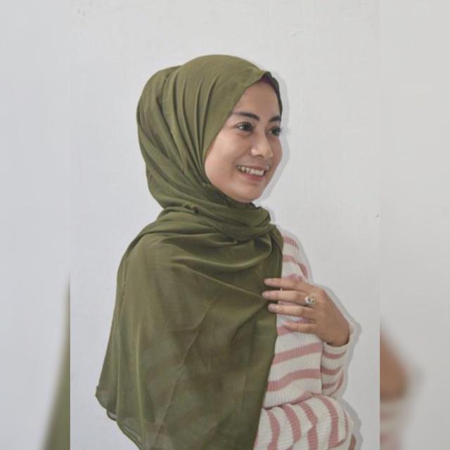 Pasmina Tali Ikat Hijau Army Muda Shopee Indonesia