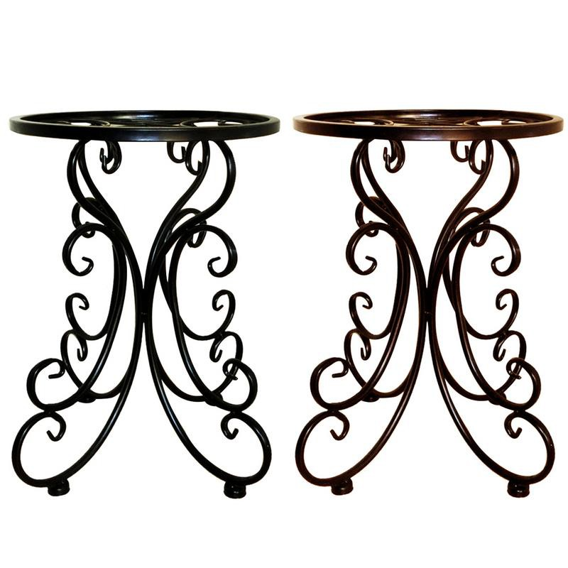 Indoor Balcony Single Wrought Iron Flower Ideas Round Stool Flower Rack Ideal For Patios Porches Shopee Indonesia