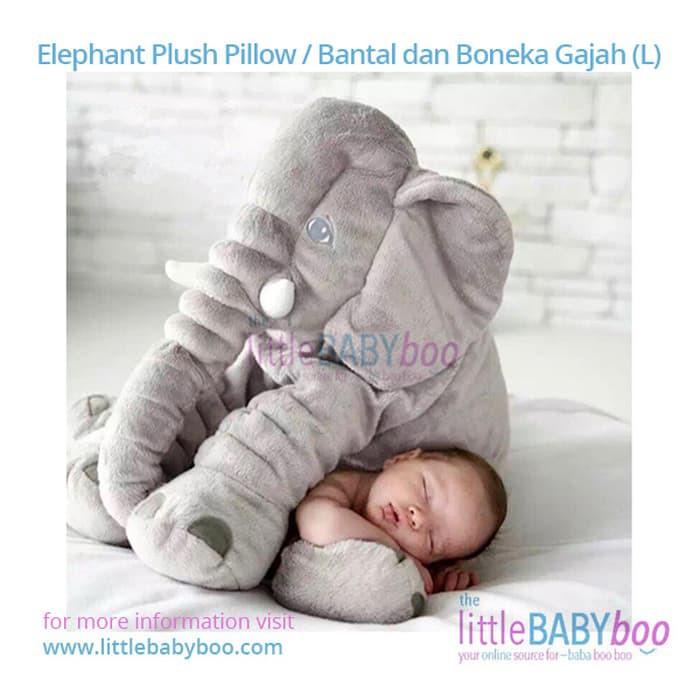Bayar Di Tempat Bantal Boneka Gajah Lucu dan Lembut Untuk Bayi Tidur ... d67991fd24