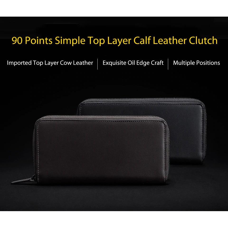 Xiaomi 90Fun Simple Long Leather Pouch Bag
