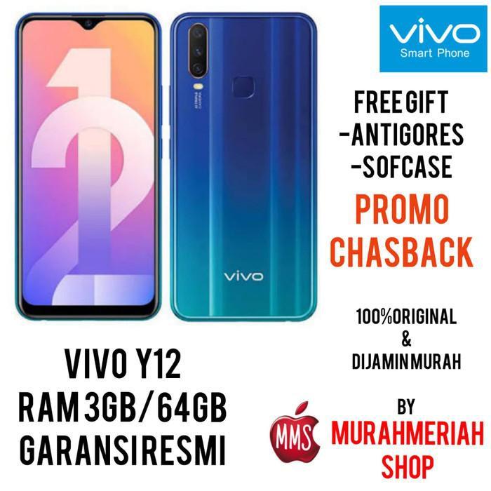 [Handphone/HP] VIVO Y12 3/64 3GB 64GB GARANSI RESMI VIVO - Biru