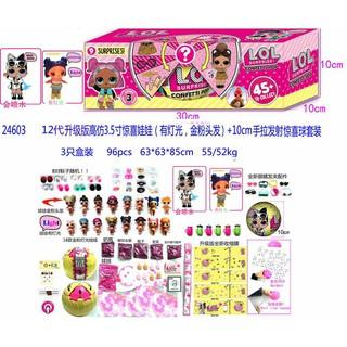 RB LOL Surprise GLITTER LAMPU CONFETTI POP Doll ISI 3 24603 Mainan Anak  83b50a5ce6