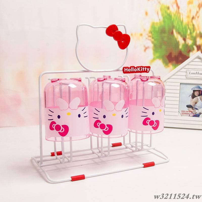 Rak Holder Pengering Cangkir Desain Hello Kitty Untuk Dapur