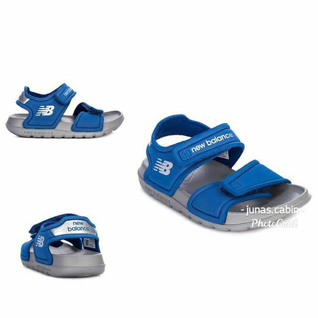 new balance sandals blue