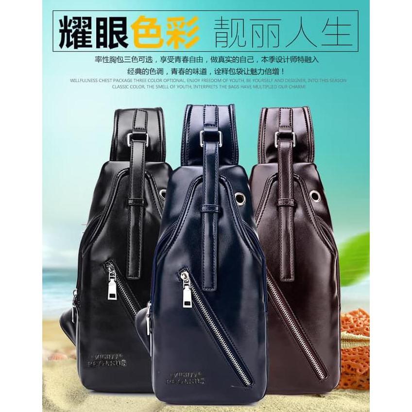 Fashion Pria / Termurah / Navy Club Tas Selempang Tablet Ipad Tahan Air 65551 - Hitam