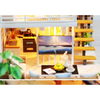 Dollhouse Wooden Furniture DIY House- K-031 - Simple and ...