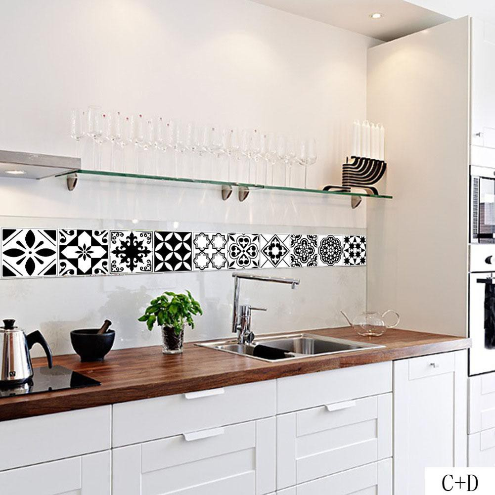 New Nordic Waterproof Pvc Self Adhesive Tiles Stickers Wall Decal Kitchen Decor Shopee Indonesia