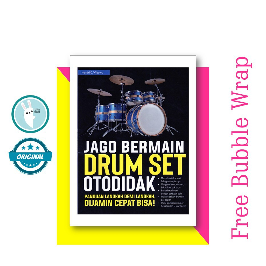SELF IMPROVEMENT BOOK JAGO BERMAIN DRUM SET OTODIDAK