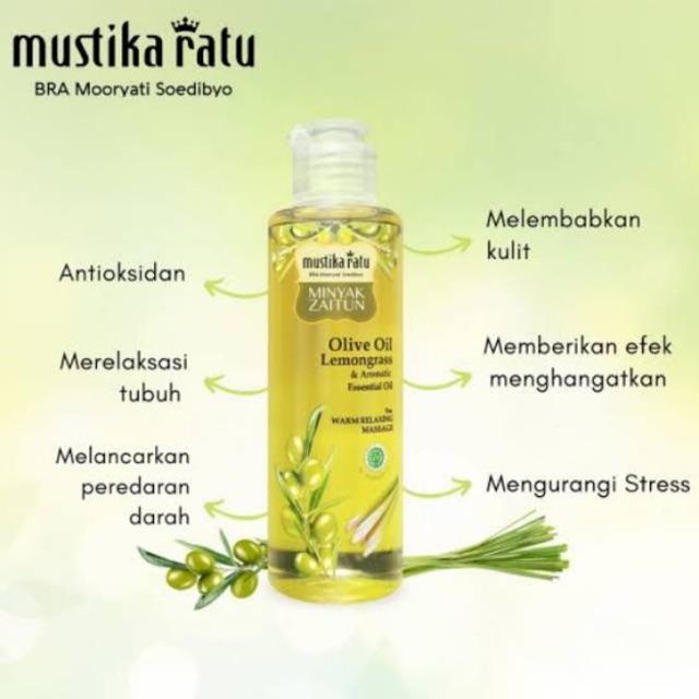 Mustika Ratu Minyak Zaitun Lemongrass Sereh Minyak 150ml Essential Oil Relax Shopee Indonesia