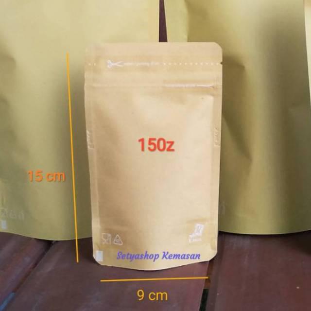 Kemasankopi: Standing Pouch Ecopack 150z Bungkus Kopi Masker