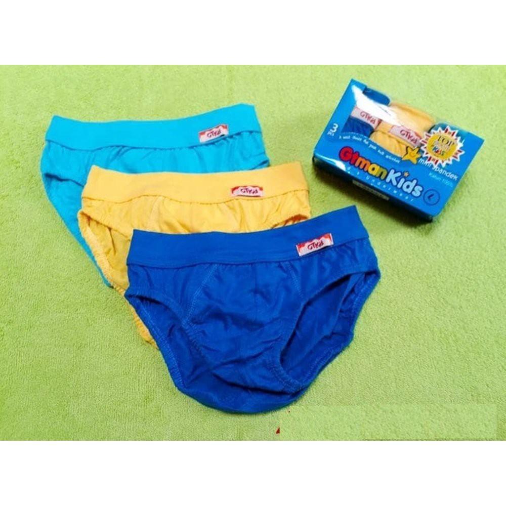 WW Isi 3 Pcs 100% KOTAK BIRU Katun Celana Dalam ANAK GT Man Kids 708 gtman   e6617540f6
