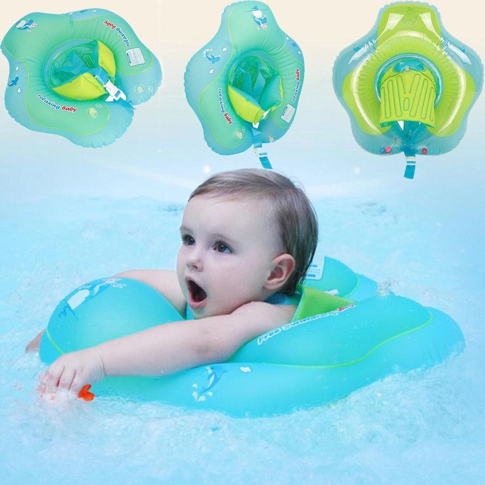 Bayi Anak Renang Tiup Float Cincin Swim Trainer Safety Aid Water Pool Toy Intex Kolam Center See Through Round 57489 Blue