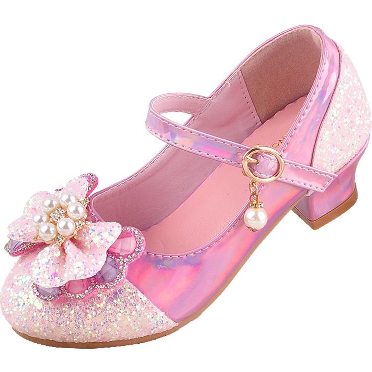 Hk5gsepatu Anak Perempuan Gadis Sandal Sepatu Hak Tinggi Anak Anak