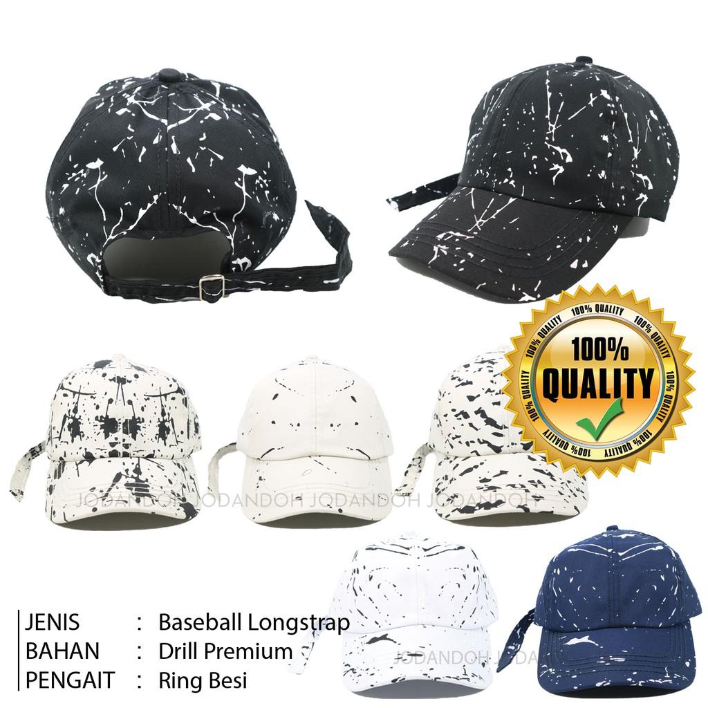 Topi Baseball Custom Ring Metal Tali Panjang  Bisa Tambah Bordir Gambar  atau Tulisan suka