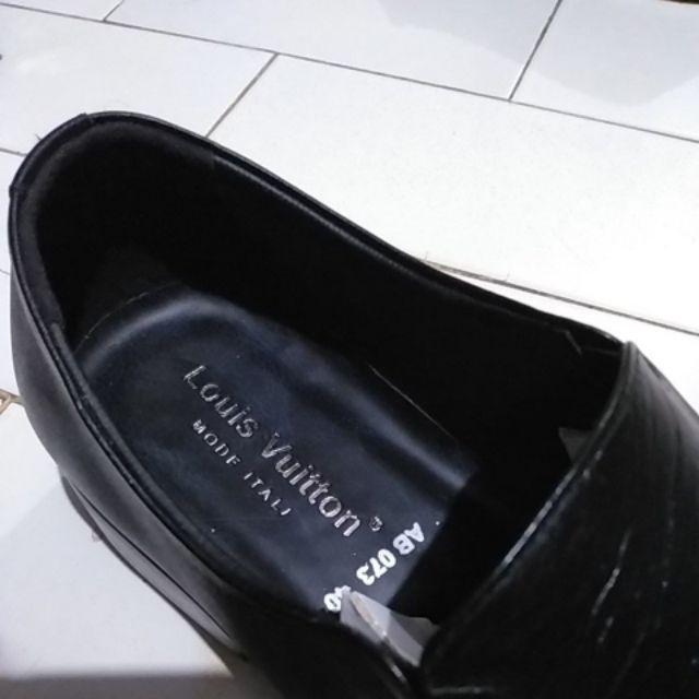 Sepatu Pantofel Pria Formal Kulit Asli Hand Made Model Slip On 073HT ... d6f3c68b52