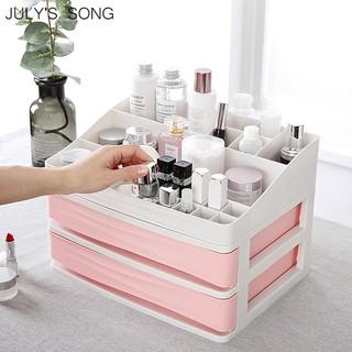 Julys Lagu Plastik Kosmetik Laci Makeup Organizer Makeup Penyimpanan Kotak Kontainer Kuku