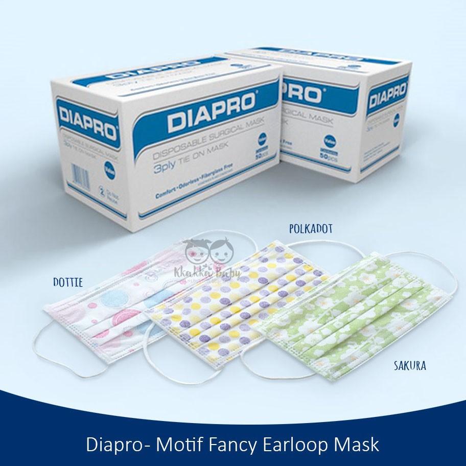 Termurah Masker Wajah Motif Merk Diapro Tebal 1dus Isi 50 Lembar Sensi Dokter Karet Telinga Surgical Face Mask 3 Ply Shopee Indonesia