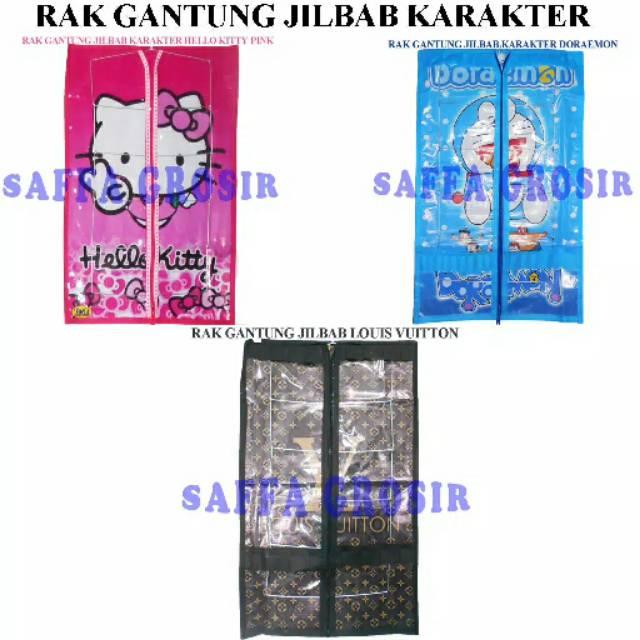 Hanger Jilbab Karakter Gantungan Jilbab HJOK HJO Karakter Rak Jilbab Tempat Penyimpanan Jilbab | Shopee Indonesia