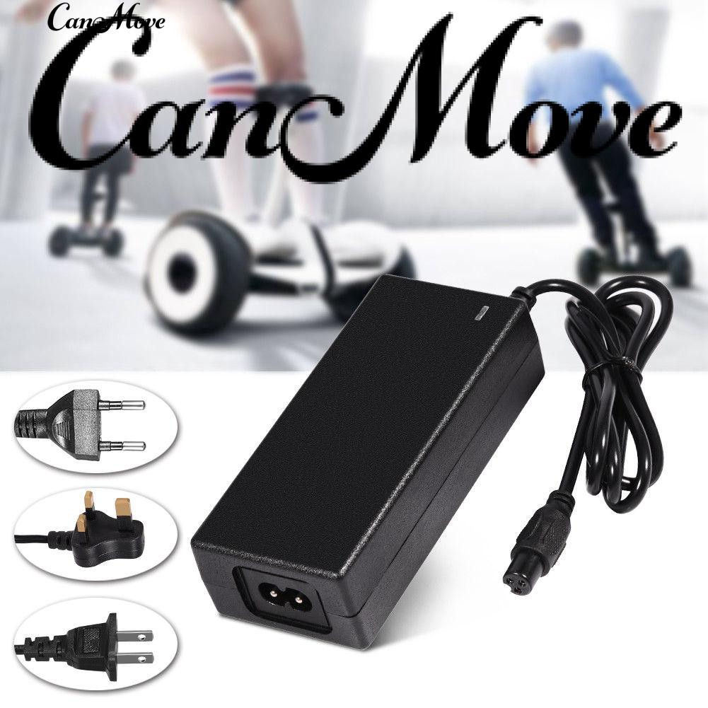 1*Charger+1* Plug Cable 42V 2A AC//DC Power Adapter For Balancing Scooter Charge