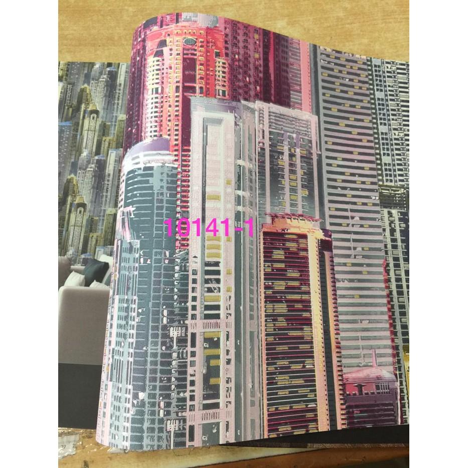 Wallpaper Dinding Korea Motif Gedung Modren Roll Besar