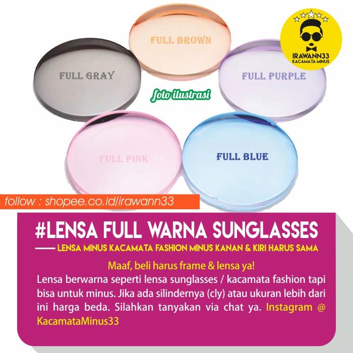 LENSA KACAMATA MINUS ANTI UV ~ Lensa MINUS WARNA (SUNGLASSES) untuk Kacamata  Fashion  6a1d385dae
