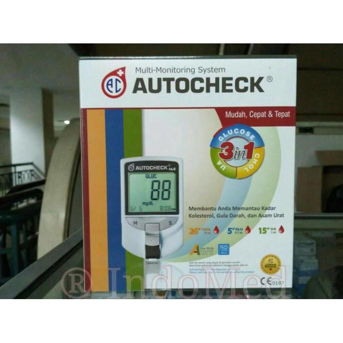 Alat autocheck 3 in 1 - cek gula darah, asam urat dan kolesterol   Shopee