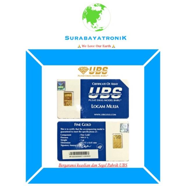 Emas UBS 2 Gram Logam Mulia 2 gr Untung Bersama Sejahtera | Shopee Indonesia