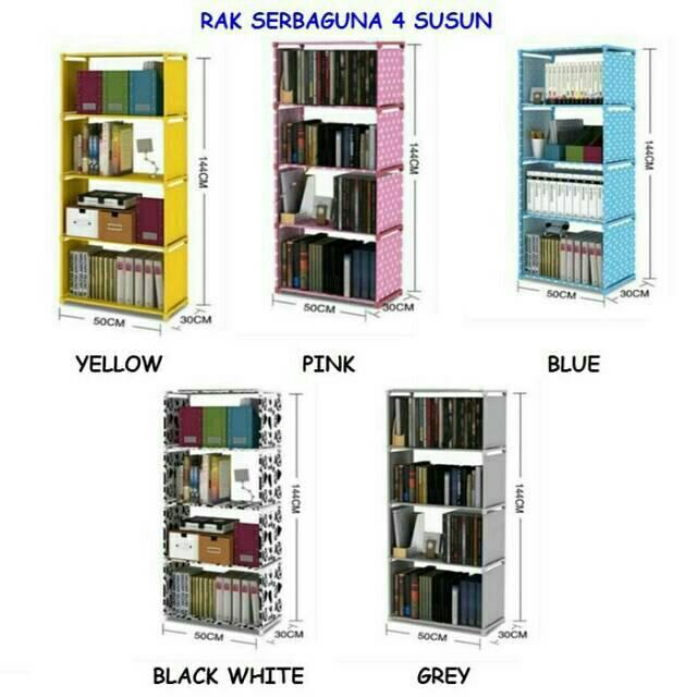 Rak Buku Portable / Lemari Serbaguna 1X5 SUSUN MERK SHENAR   Shopee Indonesia