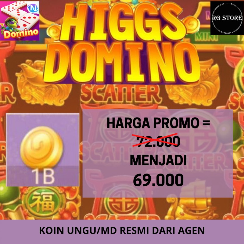 TOP UP CHIP DOMINO HIGGS ISLAND 1B - CHIP KOIN HIGGS DOMINO ISLAND - CHIP HIGGS DOMINO MD /UNGU