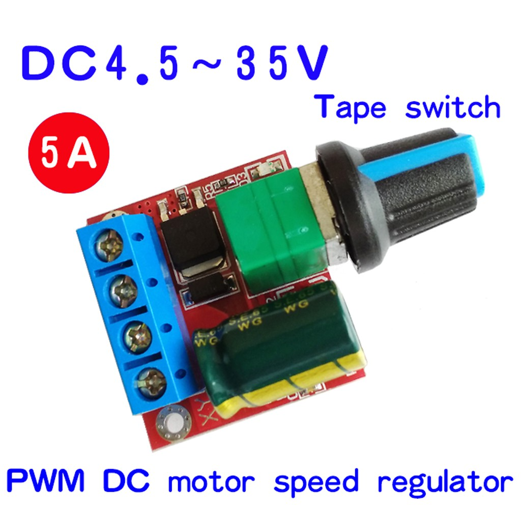 1//2//5PCS Mini DC 3V-35V 5A Motor PWM Speed Controller  Control Switch LED Dimmer