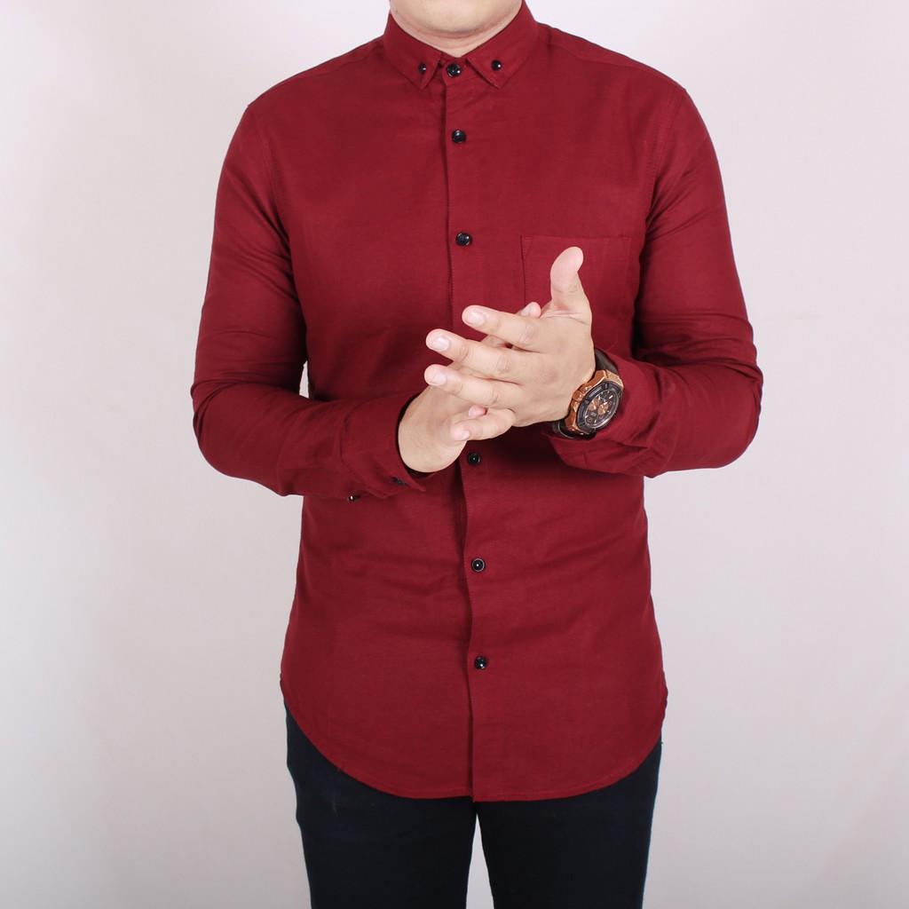Terpopuler Kemeja Seragam Promosi Kode : Kemeja Polos Ep-02 Hitam Lis Merah - Hitam, Xl | Shopee Indonesia