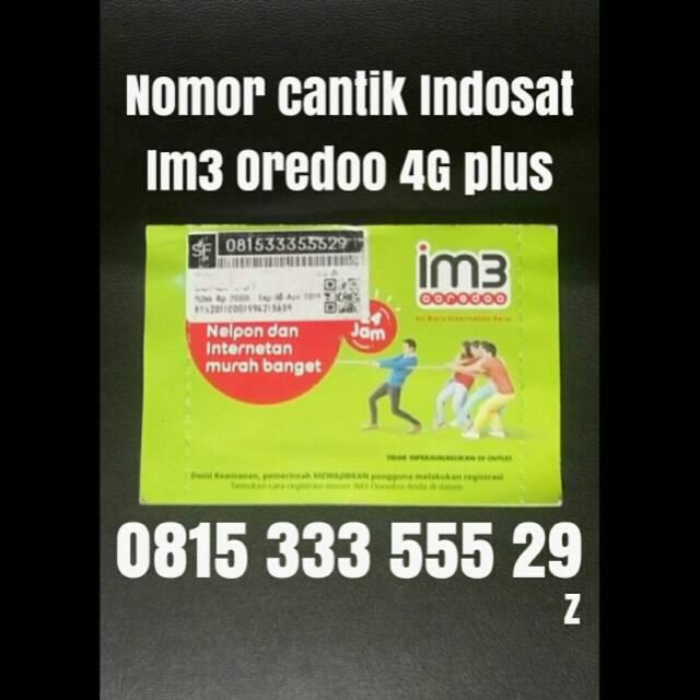 nomor cantik indosat ooredoo 4G plus kartu perdana 10 digit im3 344 | Shopee Indonesia
