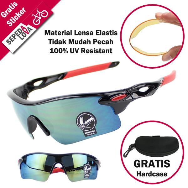 Kaca Mata Kacamata Sepeda Mancing Outdoor Anti UV protection 5 Lensa ... 9c9559f86a