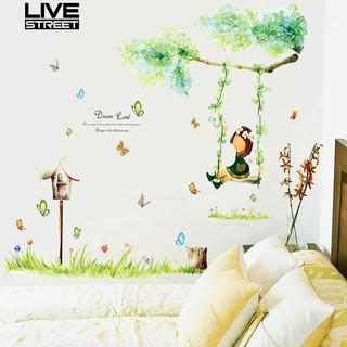 DIY Stiker Dinding dengan Bahan PVC dan Gambar Kartun Perempuan untuk  Dekorasi Kamar Anak