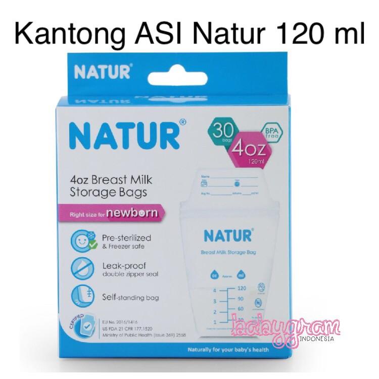 Kantong ASI Natur Kecil 120 ml Seperti Gabag Breastmilk Storage isi 30 Peralatan Makan Bayi  