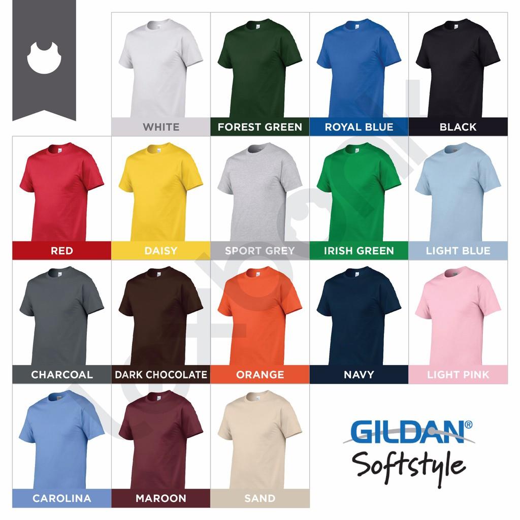 Kaos Baju Gildan Polos Softstyle 63000 Warna Original Size Xs S M L Xxl  Jakarta Xl Shopee Indonesia