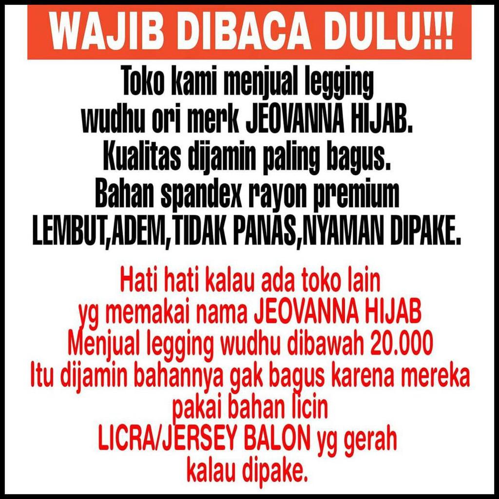 Jeovanna Hijab Lejing Wudhu Legging Wudhu Leging Muslimah Februari Shopee Indonesia