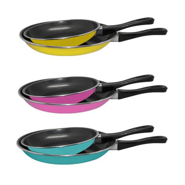 Maspion Fancy Fry Pan Set 2in1 Teflon Warna 18cm Dan