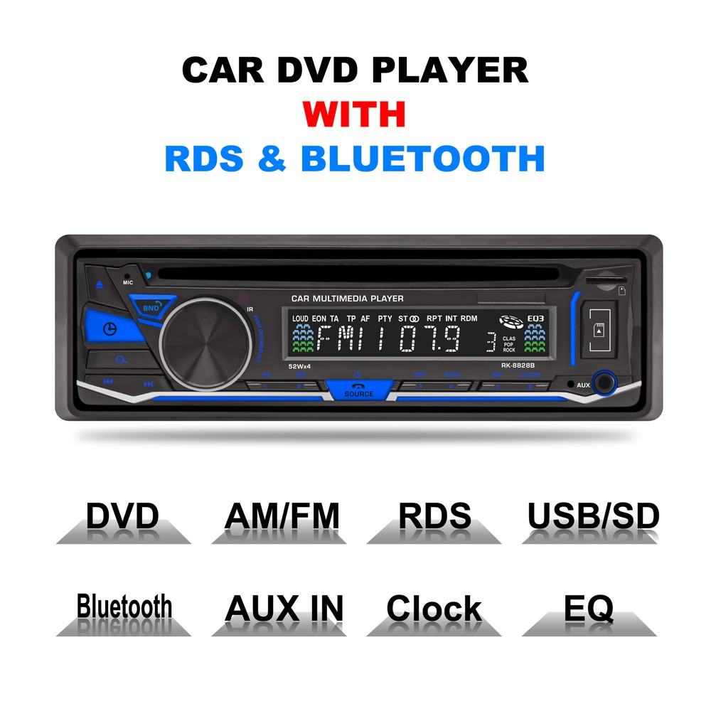 7020 7 Car Aux Audio Stereo Mp5 Player Fm Radio Bluetooth Remote Tape Mobil Usb Mp3 Jsd 520 Control Qun Shopee Indonesia